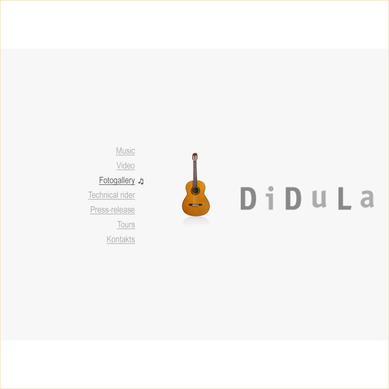 Англоязычная версия сайта музыканта ДиДюЛя